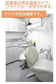 盛岡市安藤歯科医院ではすべてがプライバシー配慮の完全個室診療です。