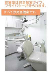 完全個室のプライベート診療を提供しております。